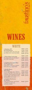 Faustino's wine list - Midhurst